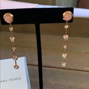 Michael Kors rose quartz dangle earrings